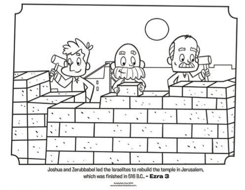 israelites rebuild jerusalem free coloring page