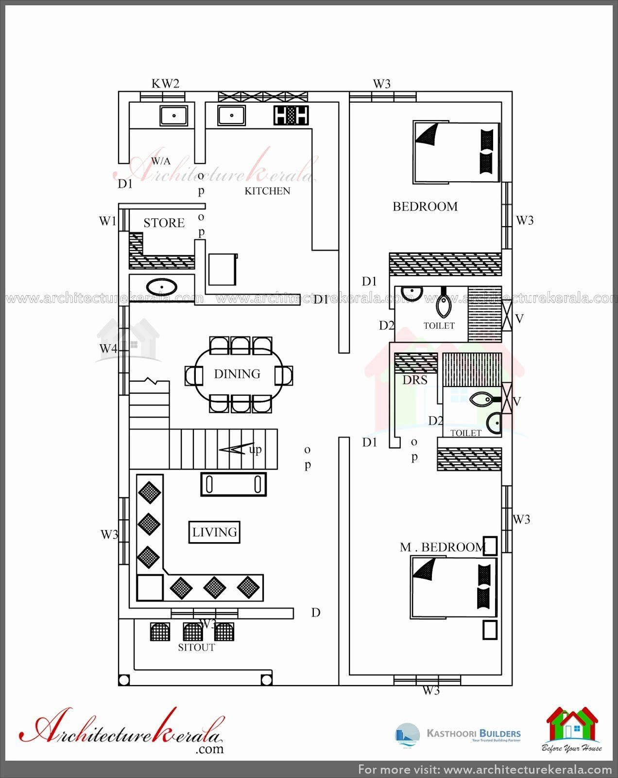 1200 Sq Feet Home Design Fresh Simple Elevation House Plan In Below 2500 Sq Ft Home Design Floor Plans Modern House Floor Plans Kerala House Design
