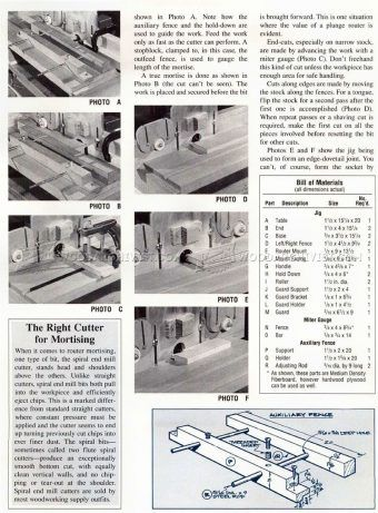 #997 Mortise and Tenon Jig Plans - Joinery Tips, Jigs and Techniques