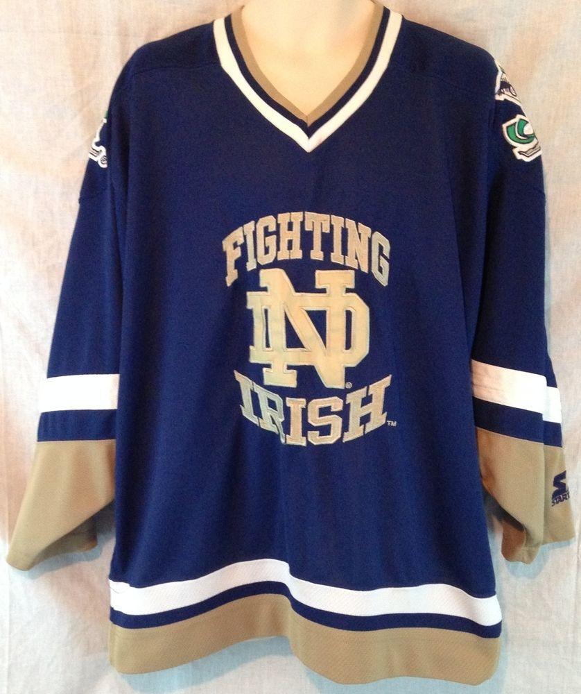 NOTRE DAME Fighting Irish STARTER Hockey Jersey Mens XL