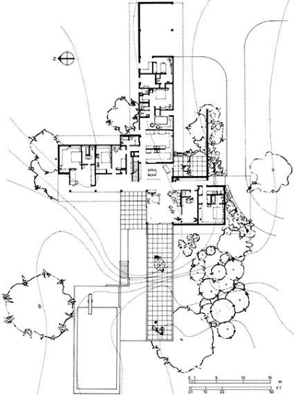 Richard Neutra Kaufmann House Floor Plans Plan for the kaufmann house  houses  Richard neutra Architecture plan Architecture