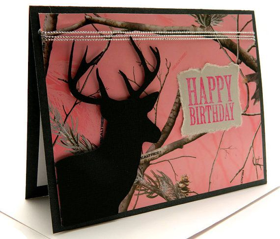Woman Birthday Cards Happy Birthday Her Camouflage Cards Etsy Birthday Cards For Her Cards Handmade Birthday Cards For Men