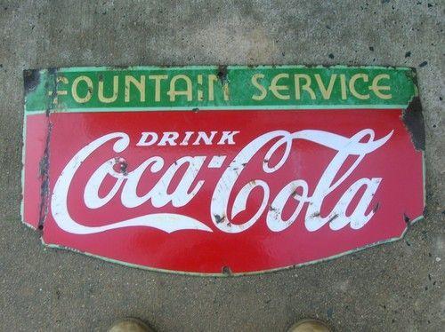 Motor Sign Retro Old school Vintage  sign Drink Coke in bottle sign