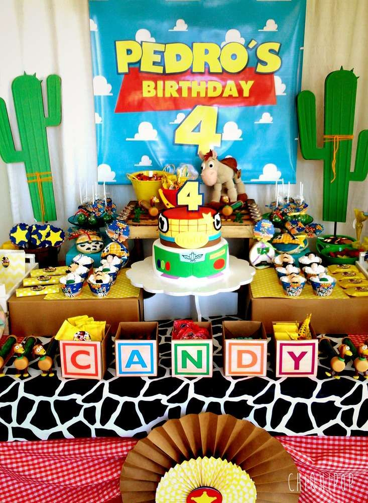 bf8b6637e4031 Check out this awesome Toy Story birthday party! The birthday cake is so  much fun!! See more party ideas and share yours at CatchMyParty.com