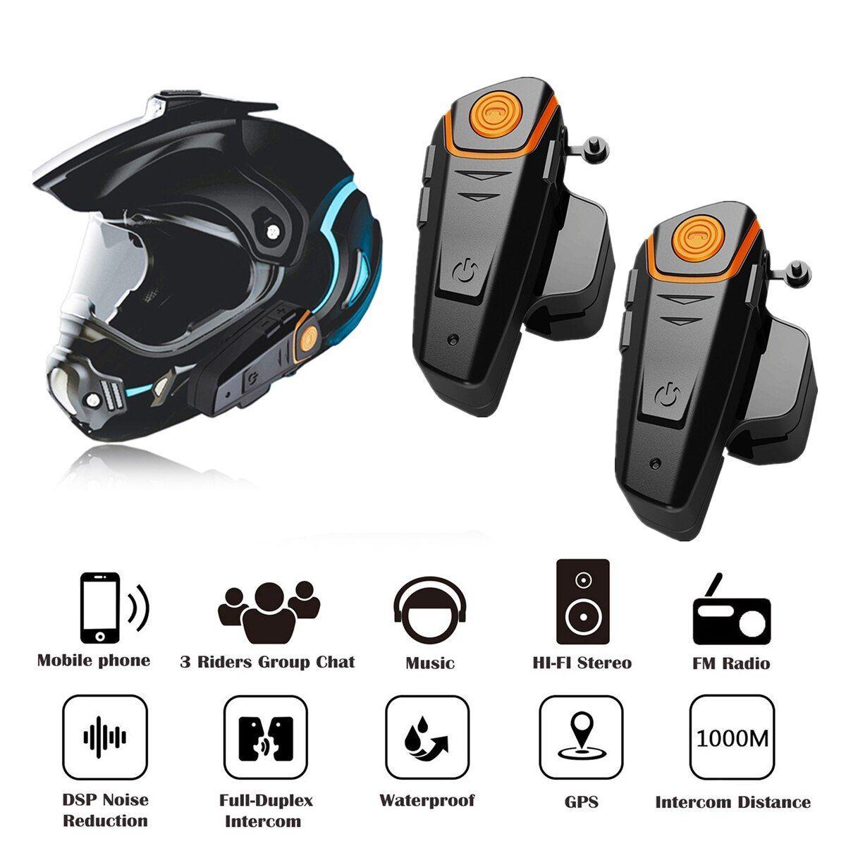 Bracket for 1000M BT Bluetooth Black Motorcycle Motorbike Helmet Intercom