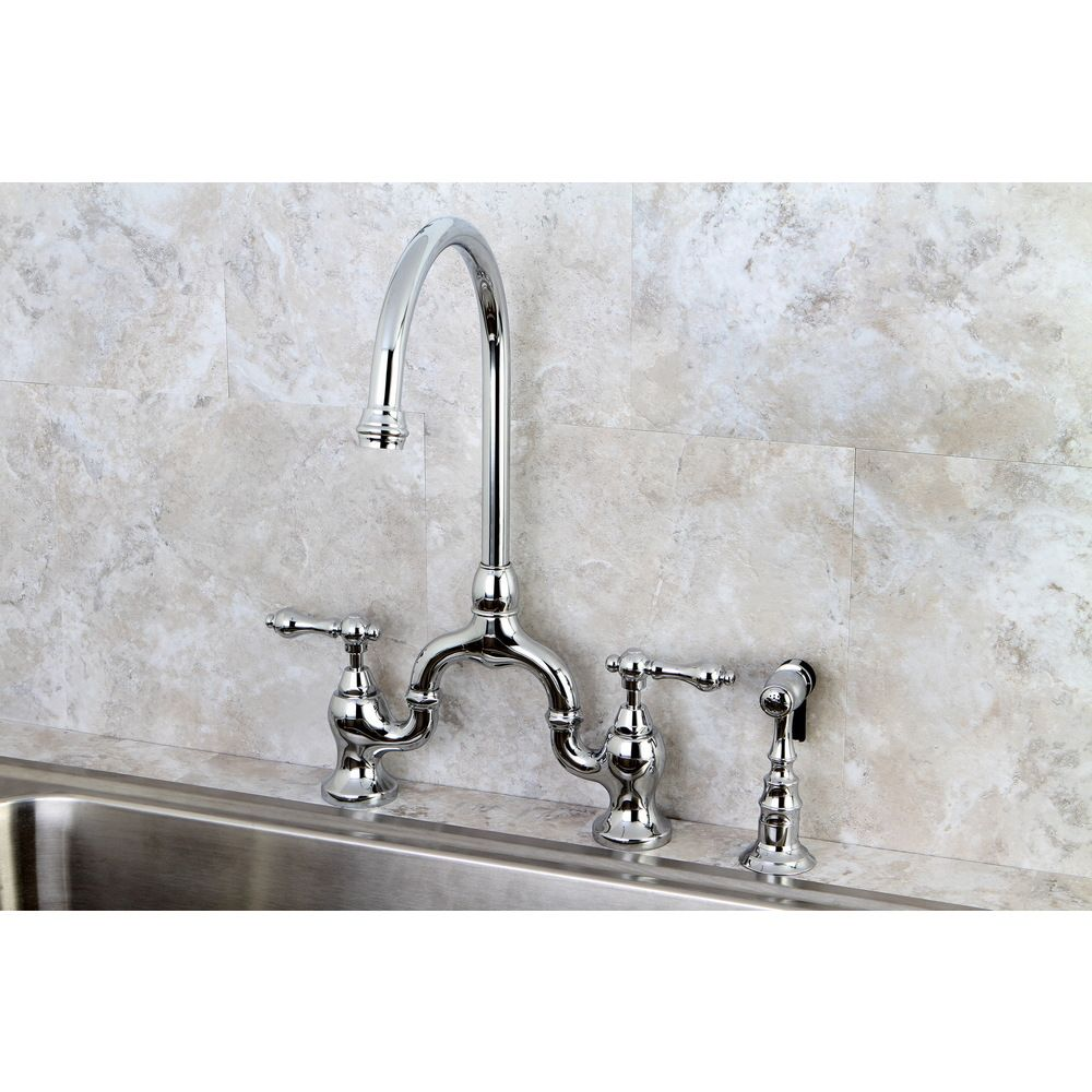 Kingston Brass Vintage Polish Chrome High-spout Chrome Bridge ...