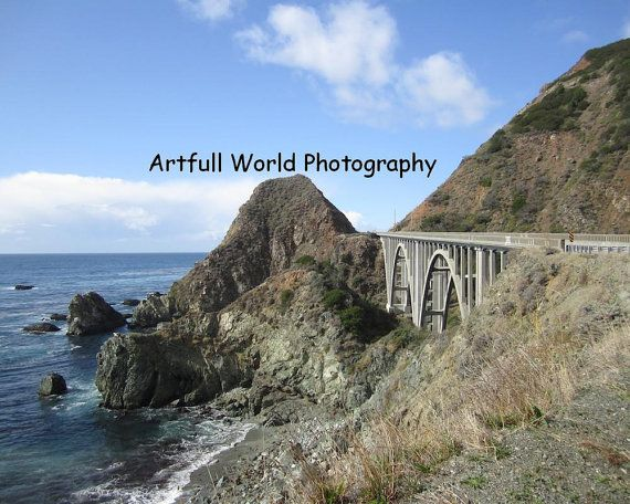 Photo of the historic Big Creek Bridge along Pacific Coast Highway