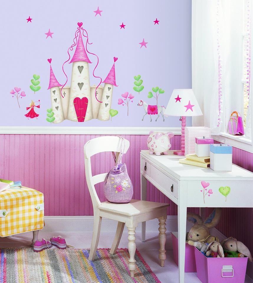 Prinzessin Schloss Wandsticker,Kinderzimmer Babyzimmer
