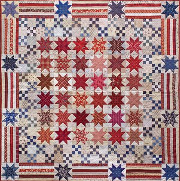 What a beautiful quilt! Could be for the Quilts of Valor program ... : fourth of july quilt pattern - Adamdwight.com