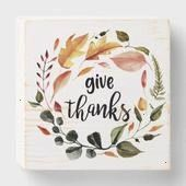 Thanks calligraphy Thanksgiving Fall Wreath Wooden Box Sign   Give Thanks calligraphy Thanksgiving Fall Wreath Wooden Box Sign   Give Thanks calligraphy Thanksgiving Fall...