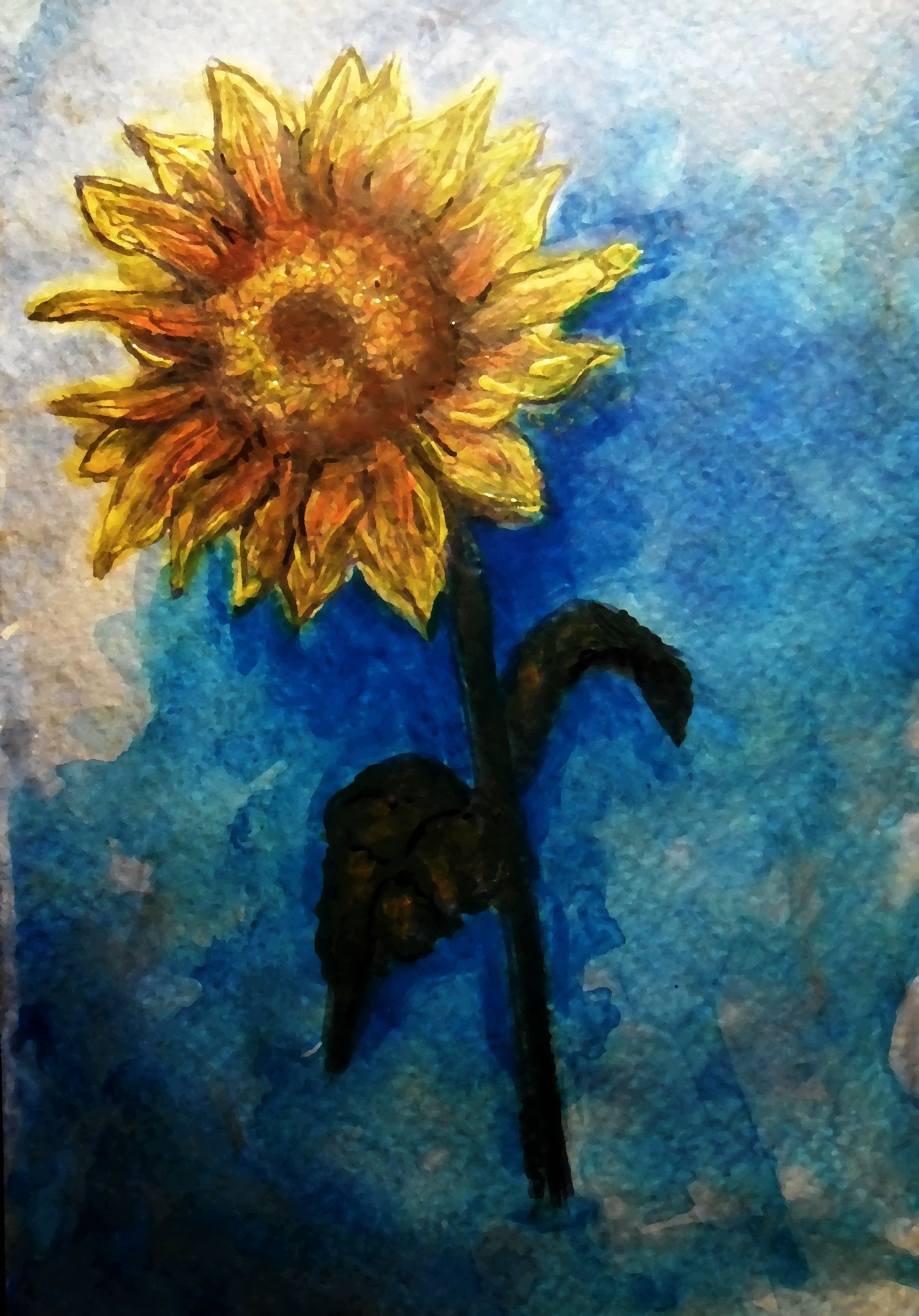 Postcards a acrylics handmade handmade paintings and drawings