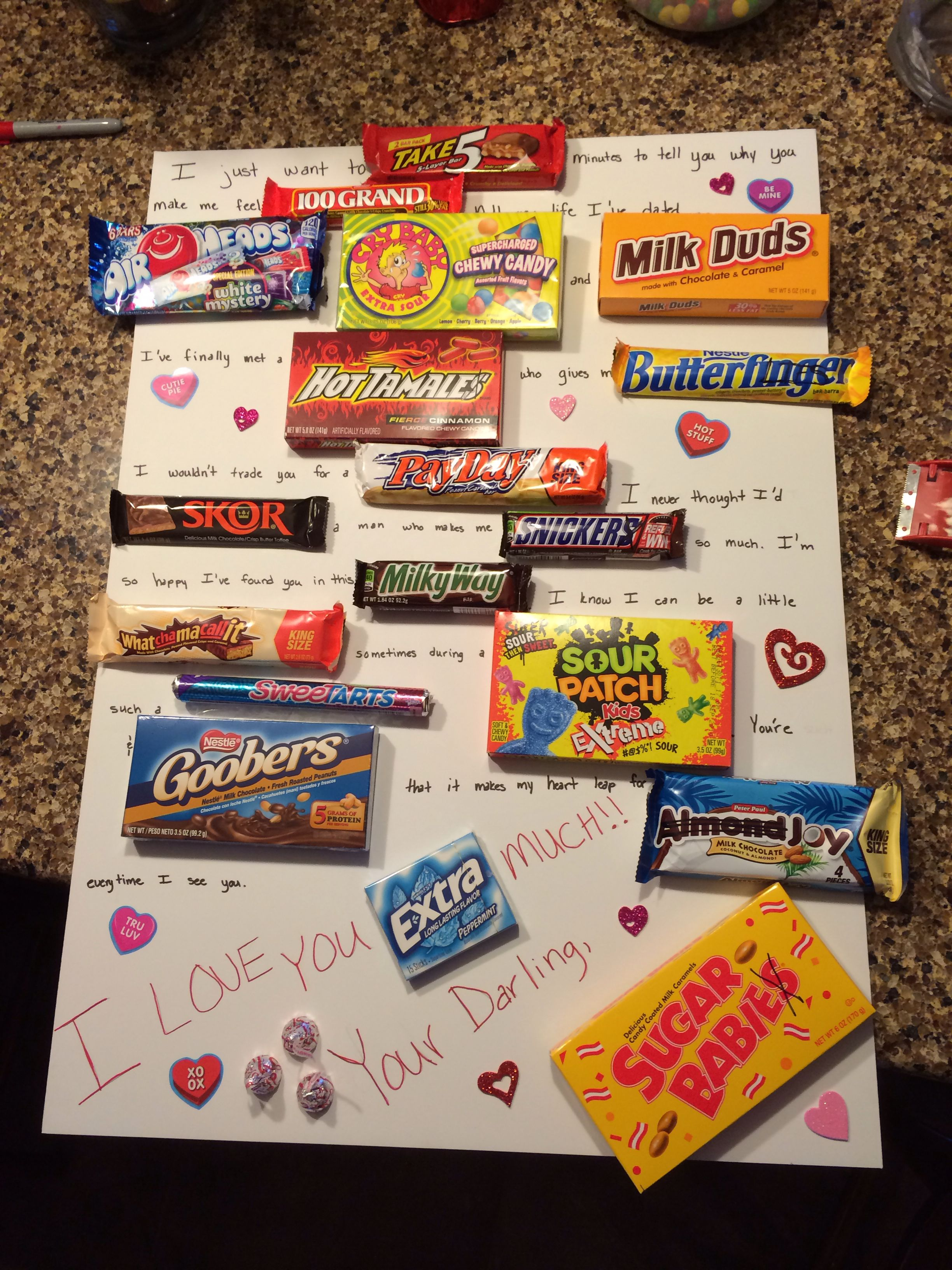 A cute valentines day candy card my friend had the idea to