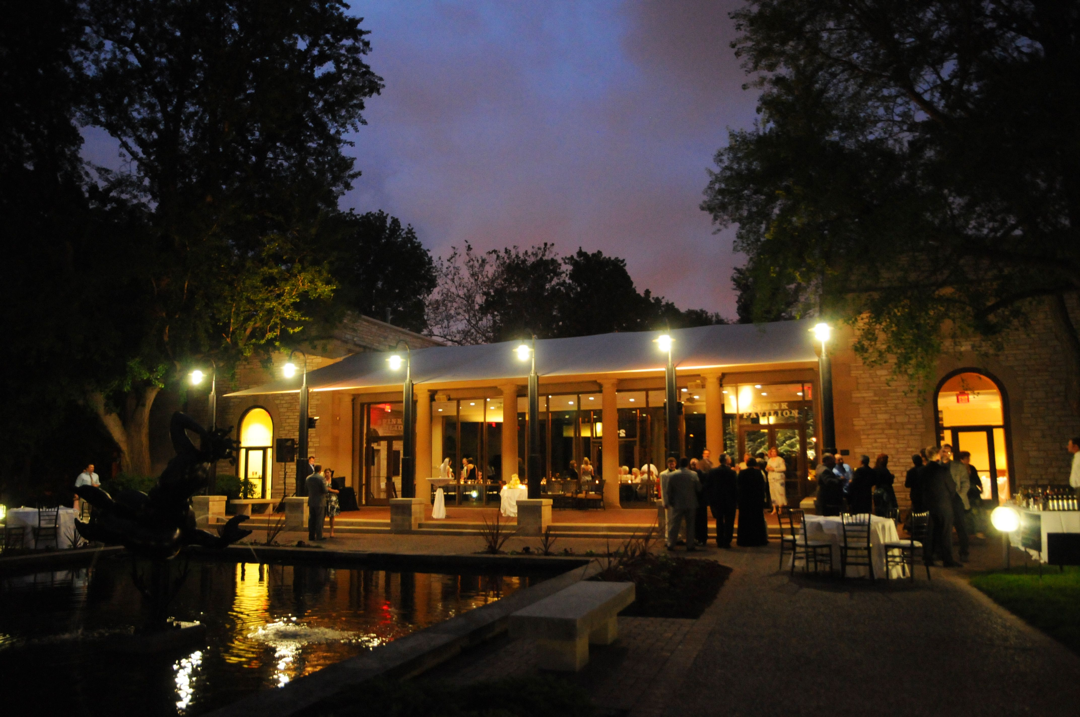 The Spink Pavilion At Night