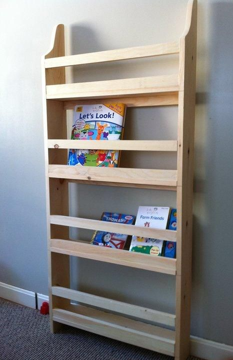 Make Your Own Wall Book Rack From Pine Boards Inspired By Pottery Barn Kids Easy
