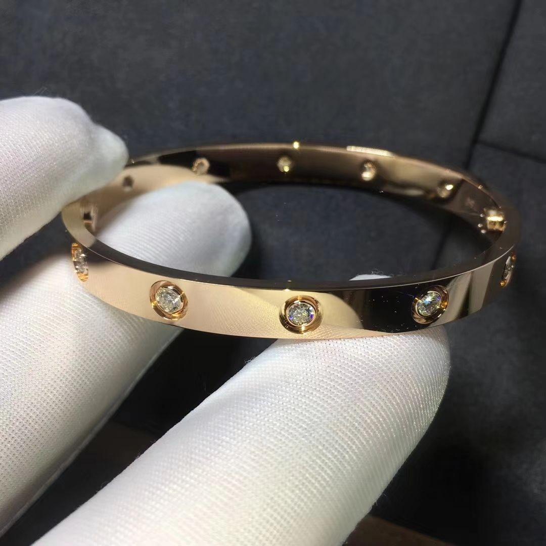 50419de5c CARTIER LOVE BRACELET WITH 10 DIAMONDS PINK GOLD | Cartier LOVE ...