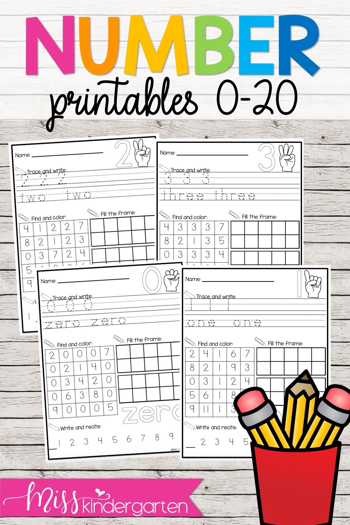 These Worksheets Help Your Students Practice Writing Their Numbers And Seeing Them Kindergarten Lessons Kindergarten Math Activities Kindergarten Lesson Plans [ 1800 x 1200 Pixel ]