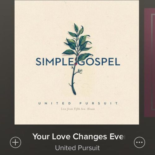I love this song. Your love changes everything....