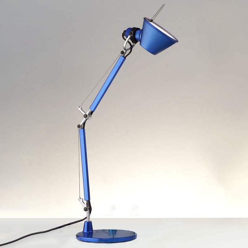 Artemide Tolomeo Micro Tischleuchte Blau Metallic In 2020 Led Lampen Wohnzimmer Tischleuchte Lampen Wohnzimmer