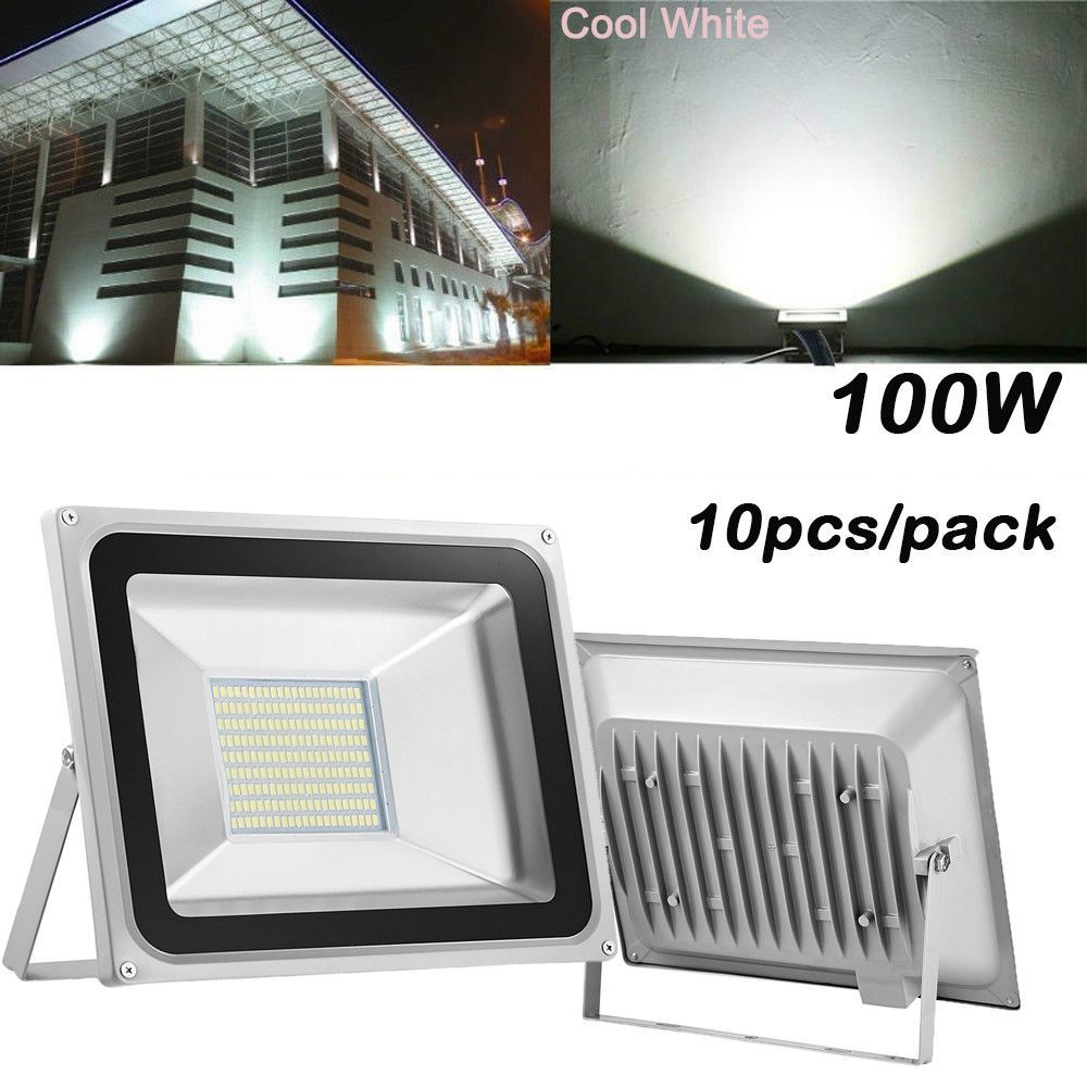 10x100w Watt Led Flood Light 110v Super White Outdoor Garden Landscape Spotlight Outdoor Gardens Landscaping Small Garden Landscape Landscape Spotlights