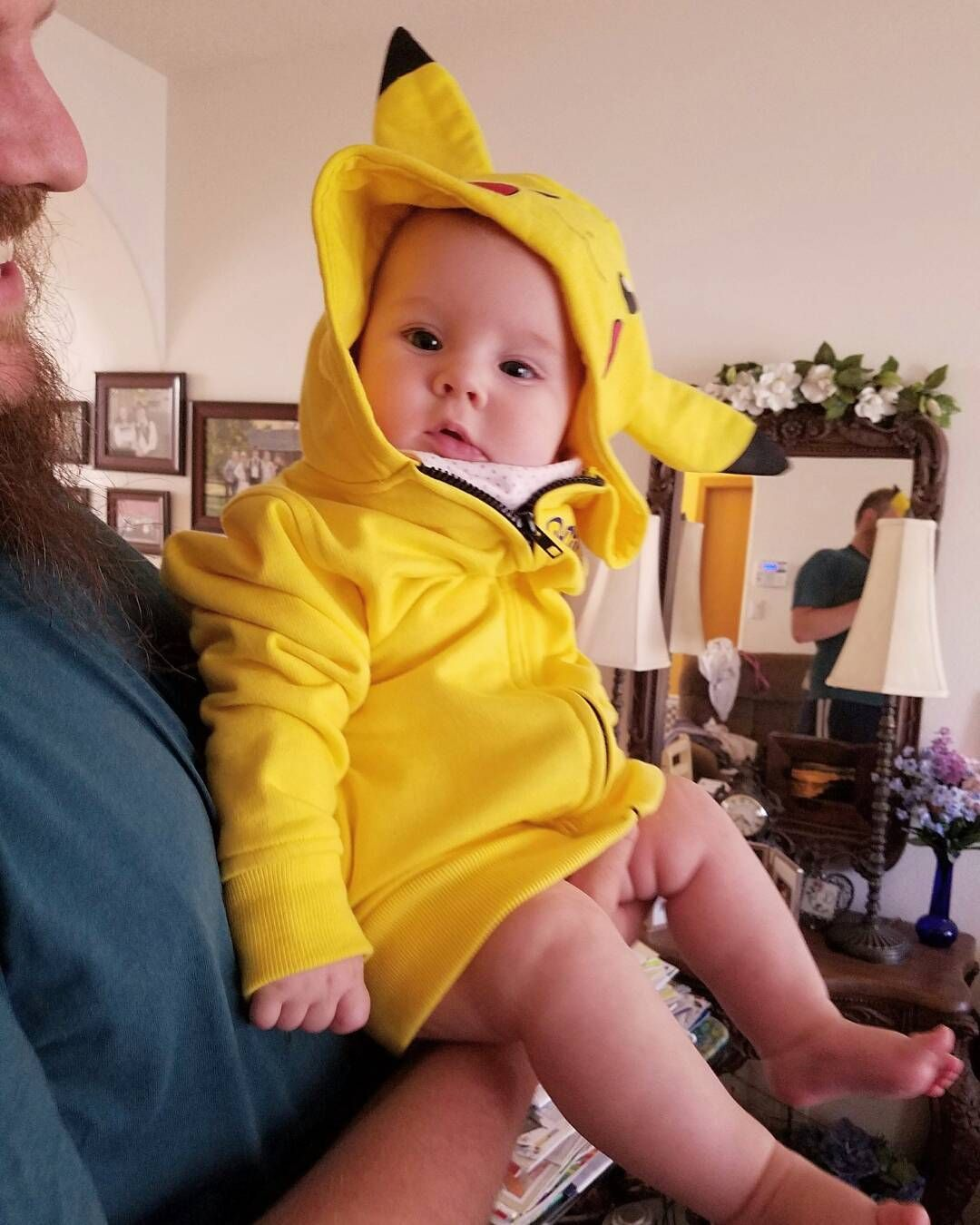 Little Sparrow rocking her  pikachu hoodie!  hoodie  baby  cosplay  pokemon 1565003ce