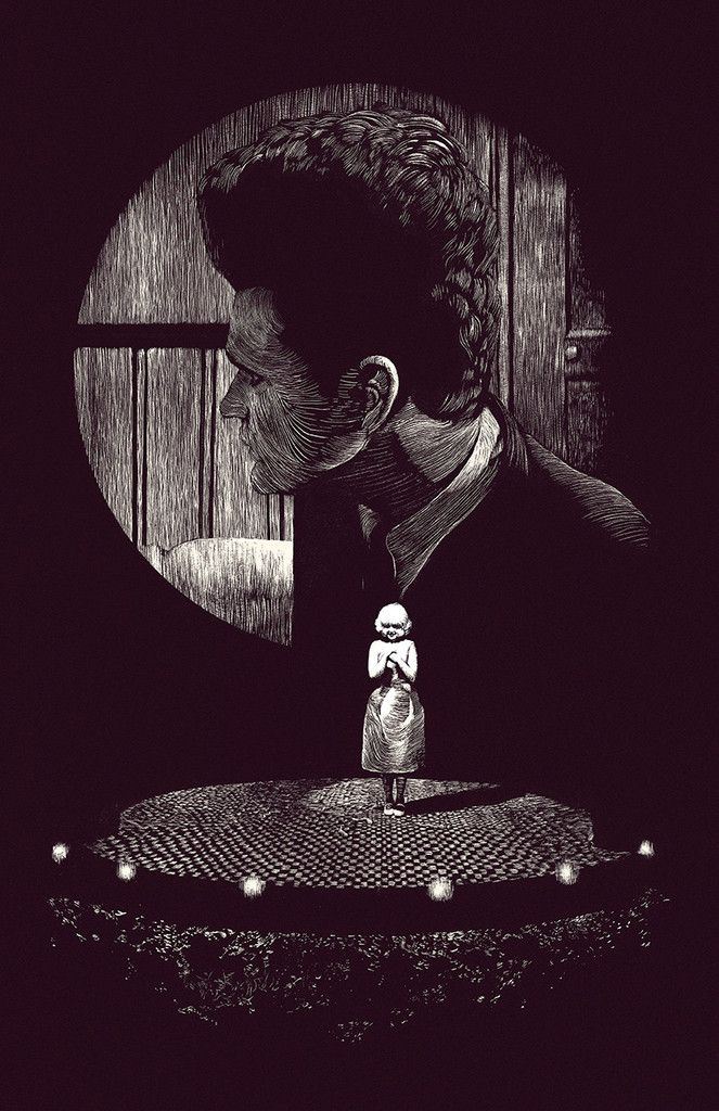 """Eraserhead - Sam Pash - ''Lady in the Radiator''  ---- HERO COMPLEX GALLERY PRESENTS: """"IMAGINED WORLDS; The Imagined Worlds of del Toro, Gilliam, Kubrick, Lynch & Scott"""""""