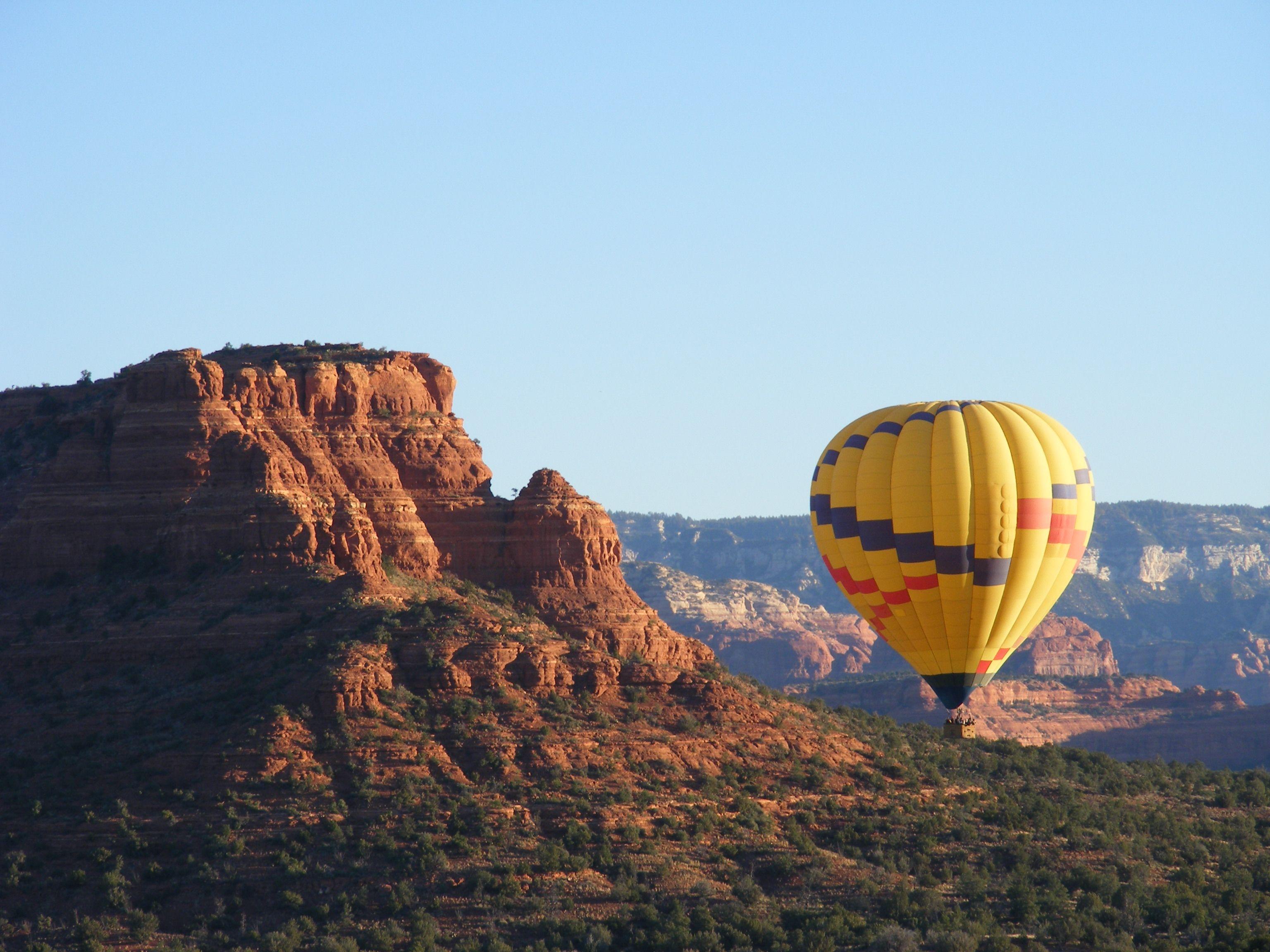 Hot Air Balloon Ride over the Red Rocks Sedona Arizona