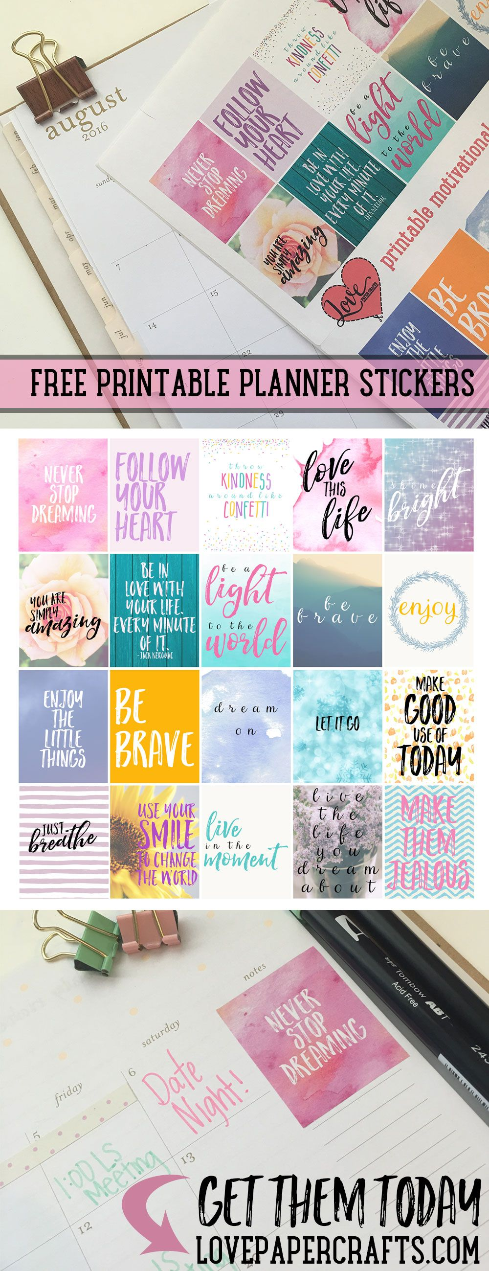 It's just a photo of Transformative Planner Printables Stickers