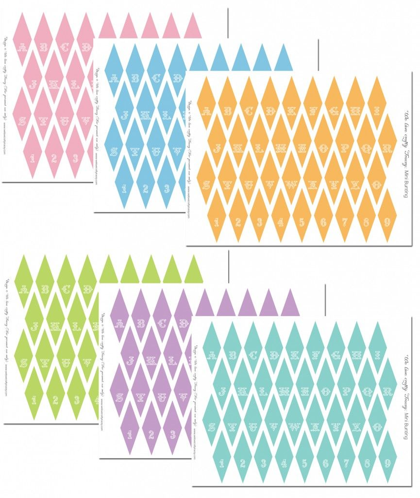mini bunting free printables party ideas pinterest mini