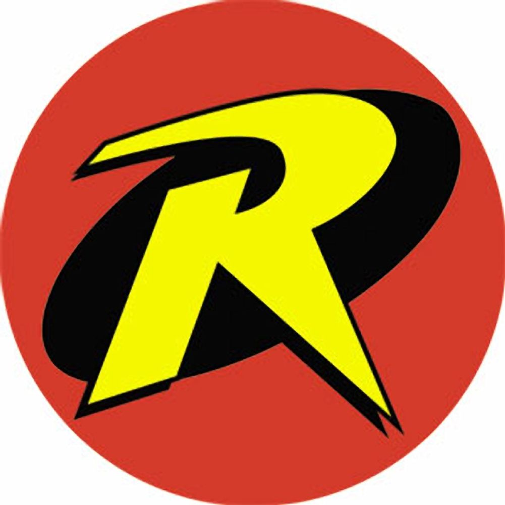 Robin logo christine robin racing pinterest robins the inch diameter robin symbol button is the famous r symbol originally made popular by the high flying dick grayson batmans first protege buycottarizona Gallery