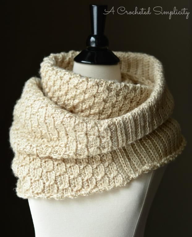 Knit Look Infinity Stitch Cowl Poncho Stitch Crochet And Yarns