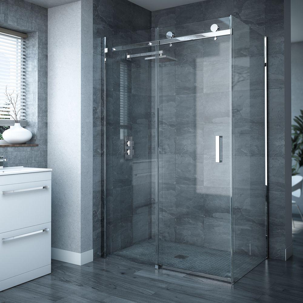 Bathroom Glass Door Not Closing Properly Variant Living Frameless Sliding Shower Doors Shower Enclosure Frameless Sliding Doors
