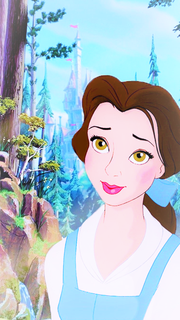 Belle is the only brunette princess. Why!!! Not counting rapunzel because her hair was naturally blonde