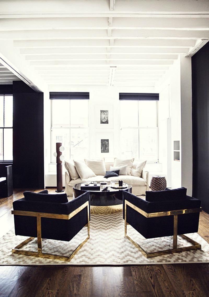 Décoration noir et or pour créer un espace où respirent le luxe et ...