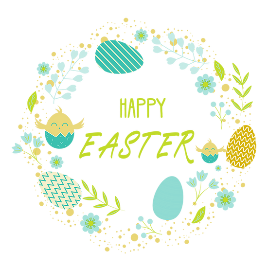 Easter Wreath Greeting Card Png Transparent Image Instant Download Upcrafts Design In 2021 Easter Wreaths Printable Wall Art Greeting Cards