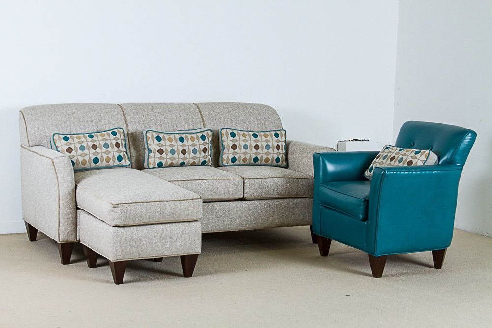 Marshfield Furniture Tealtro Linen Sofa W Chaise And
