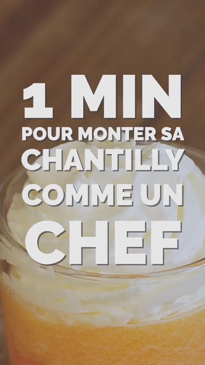Comment r aliser sa chantilly les bases de la cuisine en 2019 recettes de cuisine recette - Faire de la chantilly maison ...