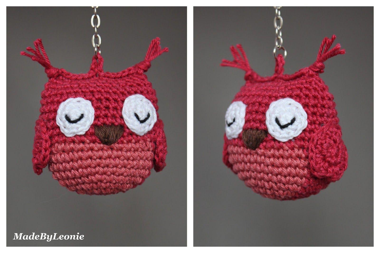 Uil Sleutelhanger Uiltje Crochet Haken Madebyleonie Keychain Hanger