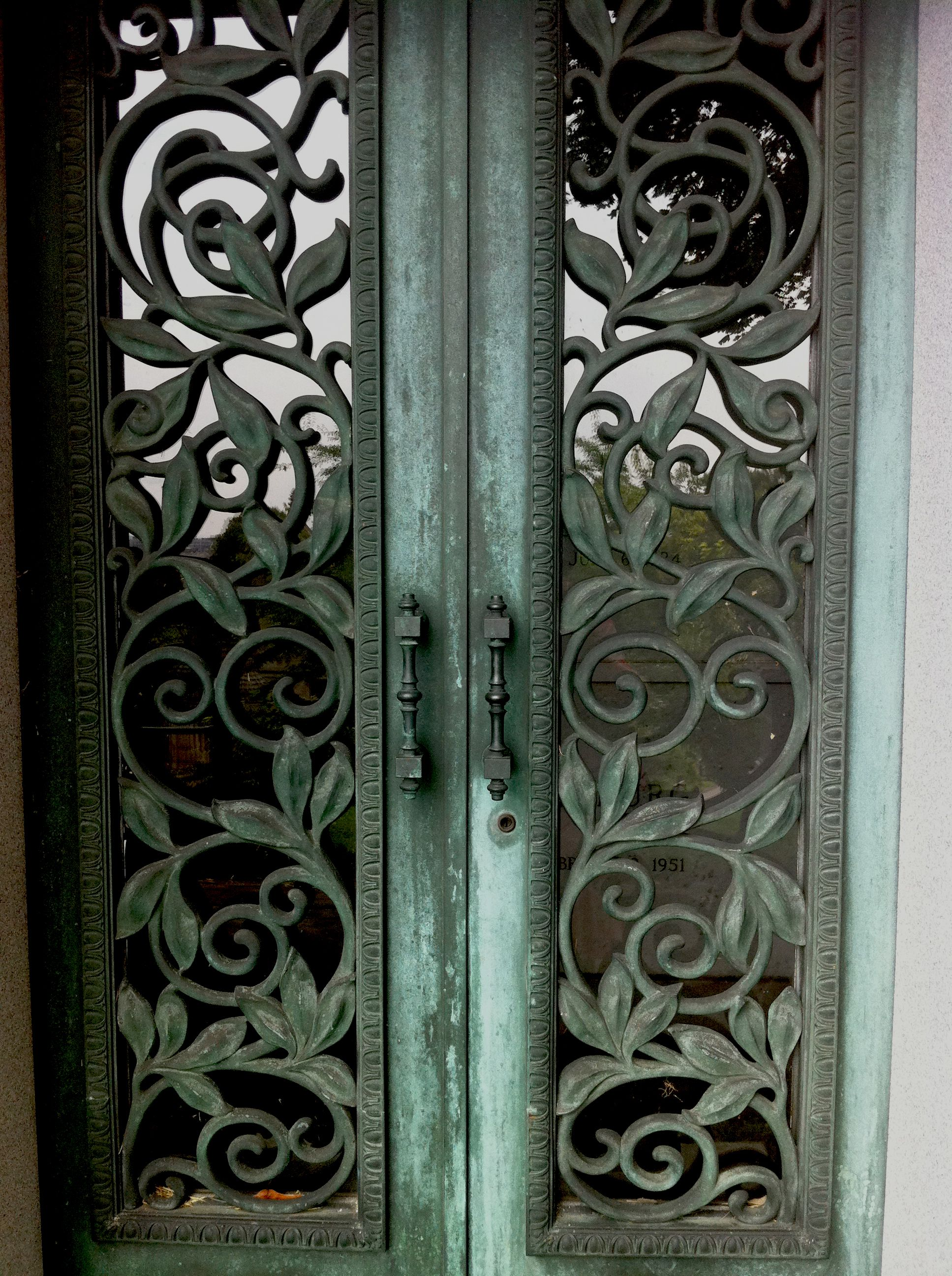 A beautiful iron door from a mausoleum in Greenwood Cemetery & A beautiful iron door from a mausoleum in Greenwood Cemetery ... pezcame.com