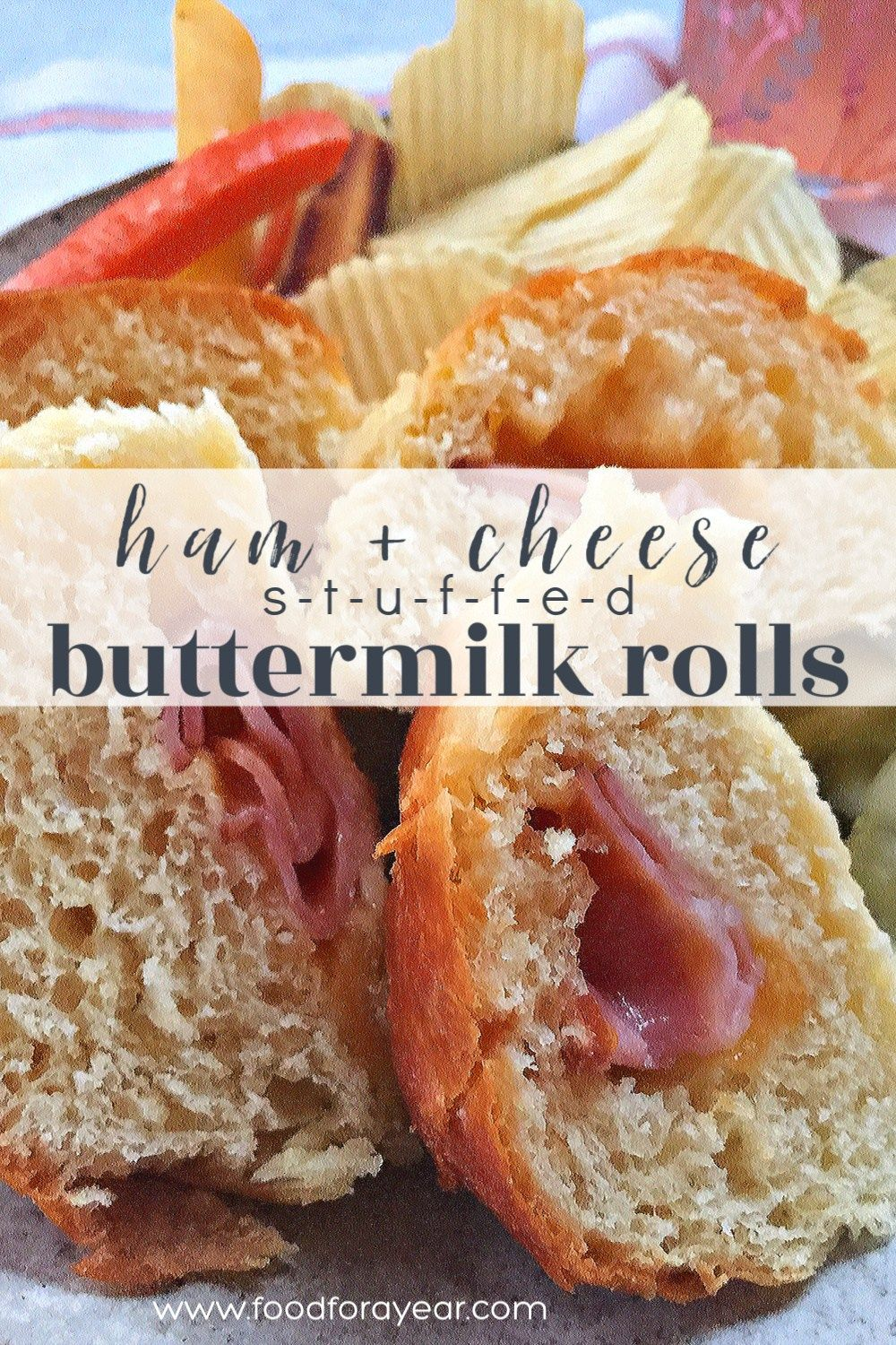 Easy Homemade Ham Cheese Stuffed Buttermilk Rolls Food For A Year Recipe In 2020 Beef Recipes Easy Homemade Ham Ham And Cheese