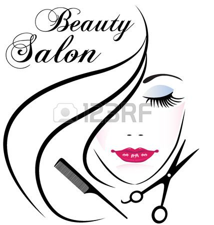 Beauty Salon Pretty Woman Hair Face Comb And Scissors Logo Vector Beauty Salon Logo Hair Salon Logos Salon Logo