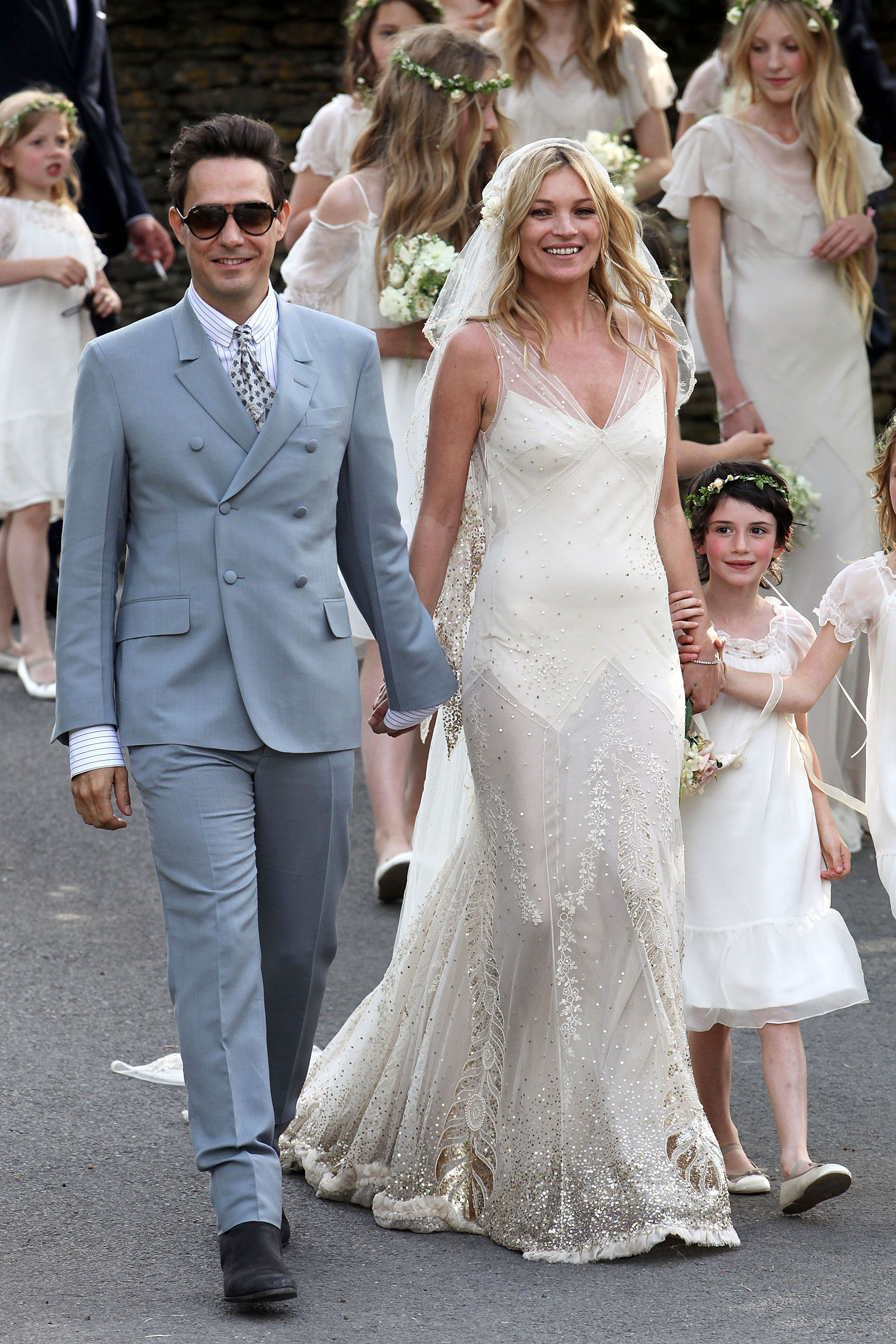 3c3abfb4c6fea 10 Iconic Wedding Gowns - Kate Moss in John Galliano 2011