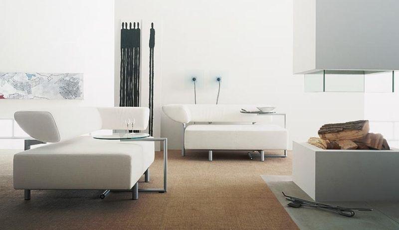 Salon moderne blanc \u2013 quels meubles et décoration pour le réussir