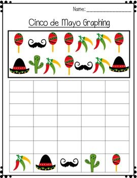 Cinco de Mayo : Picture Count and Graph It Activity   Cinco