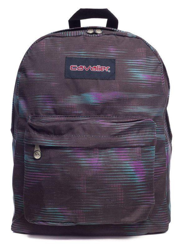 Mochila escolar Cavalier preta estampada boreal - Enluaze Loja Virtual | Bolsas, mochilas e pastas