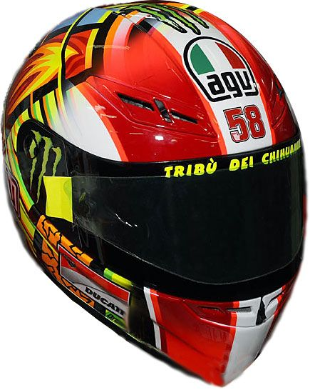 7c0220b8 AGV K3 SV Rossi Simoncelli Tribute Helmet | my idol n a man who want ...