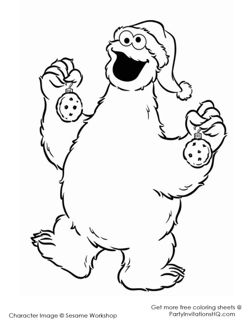 Christmas Coloring Pages Sesame Street Christmas Coloring Pages  Cheerful Ideas