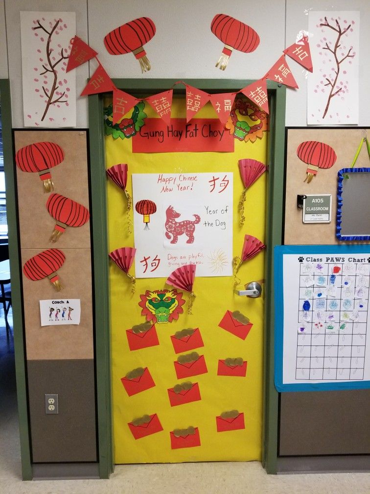 Chinese New year door decoration | Chinese new year crafts