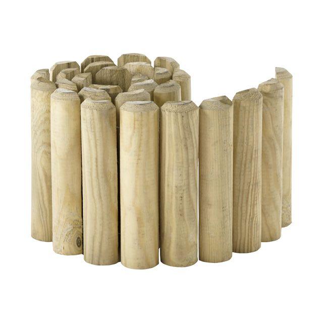 bordure demi rondin bois stelmet 200 x cm potager en permaculture bordure bois bordure. Black Bedroom Furniture Sets. Home Design Ideas