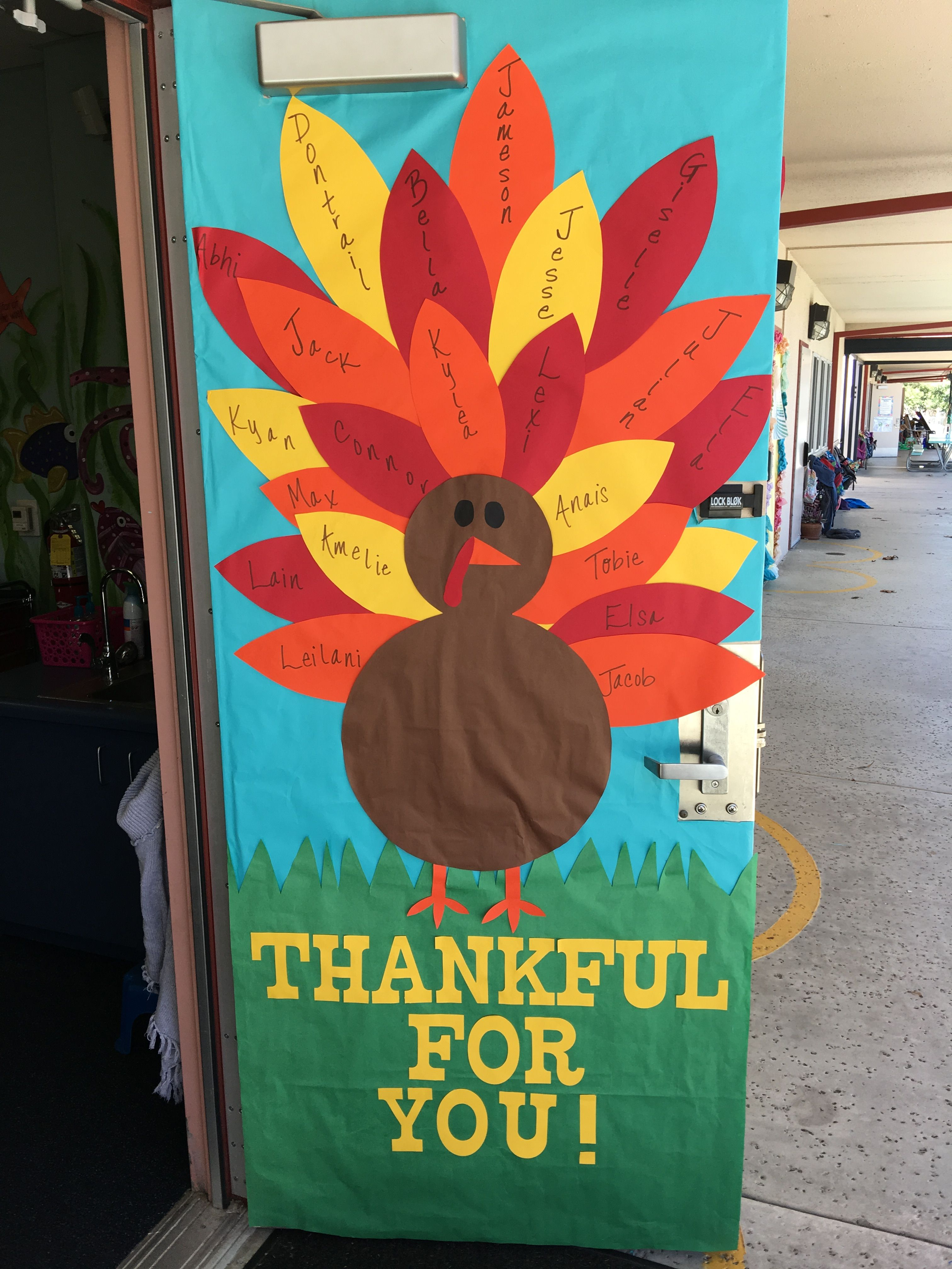 Arts And Crafts For Kindergarten Thanksgiving School Door