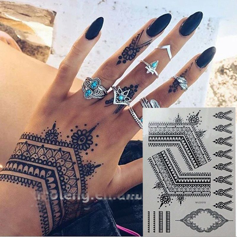 Flash Gold Metallic Henna Fake Bodystocking Tatoo Temporary Tattoo Stickers Arabic Golds Glitter Lar Henna Tattoo Temporary Body Tattoos Henna Inspired Tattoos